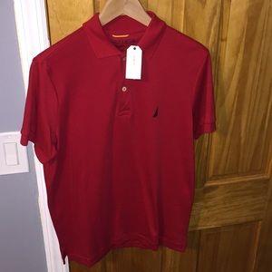 Nautica Small Slim Fit Interlock Polo Shirt
